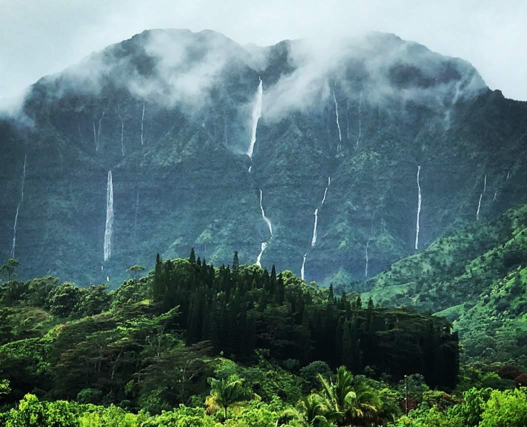 Namahana Falls after heavy rain